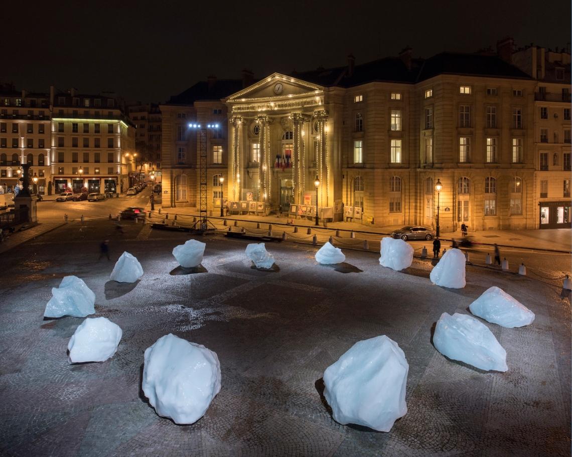 ?ice watch paris? Olafur Eliasson - Place du Pantheon